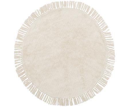 Okrúhly ručne tkaný bavlnený koberec Daya