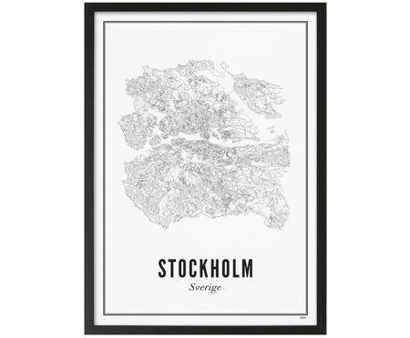 Ingelijste digitale print Stockholm