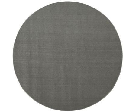 Okrągły dywan z wełny szary Ida