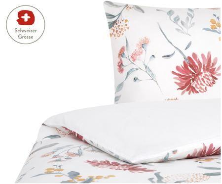 Baumwollsatin-Wendeduvetbezug Evie mit Aquarell Blumenmuster