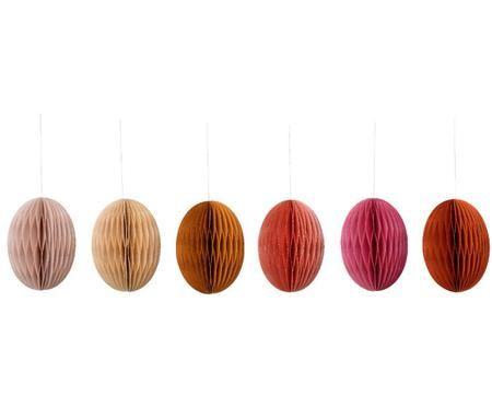 Komplet wiszących dekoracji wielkanocnych Dahlia, 6 elem.