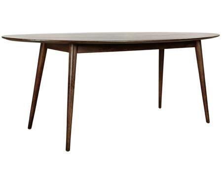 Owalny stół do jadalni z litego drewna Oscar