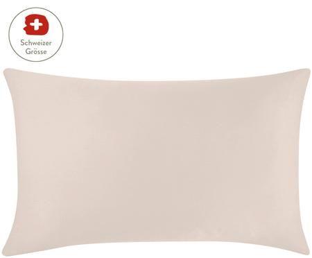 Baumwollsatin-Kissenbezug Comfort in Taupe