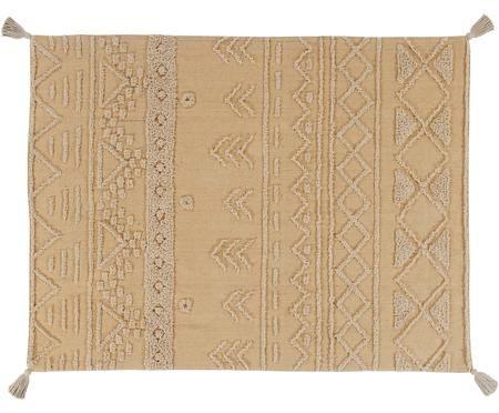 Tappeto etnico con motivo a rilievo Tribu