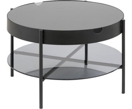 Stolik kawowy ze szkła z miejscem do przechowywania Tipton