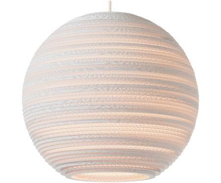 Lampada a sospensione in cartone ondulato Moon