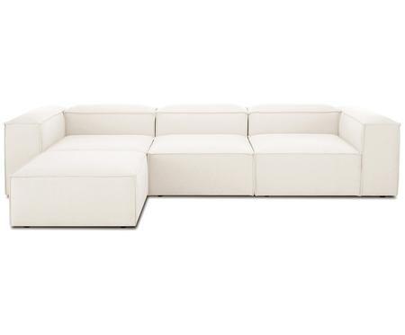 Canapé d'angle modulable dossier bas Lennon