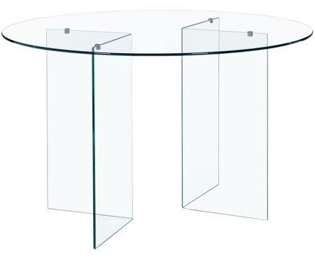 Tavolo da pranzo rotondo in vetro Iride