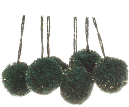 Pompons Lurex, 6 Stück