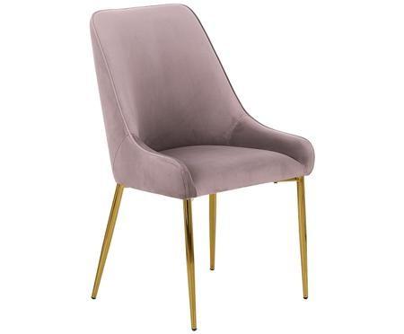 Chaise en velours rembourrée Ava