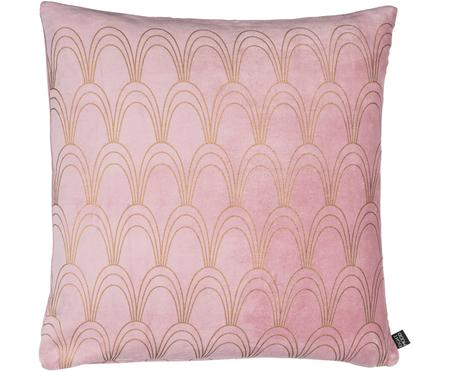 Samt-Kissenhülle Dannii mit Art Deco Muster