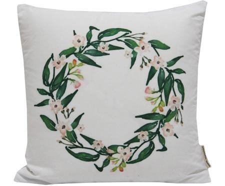 Housse de coussin imprimé floralWreath
