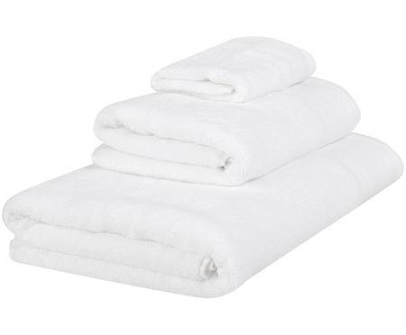 Handtuch-Set Premium mit klassischer Zierbordüre, 3-tlg.