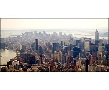 Oprawiony druk cyfrowy przedstawiający Nowy Jork/Manhattan na aluminium Urban City