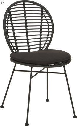 Polyrattan-Stühle Cordula mit Sitzkissen, 2 Stück