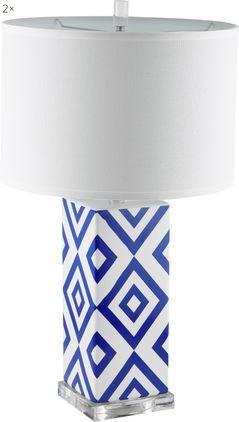 Große Tischlampen Patricia, 2 Stück