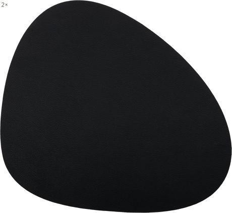 Ovale Kunstleder-Tischsets Leni, 2 Stück