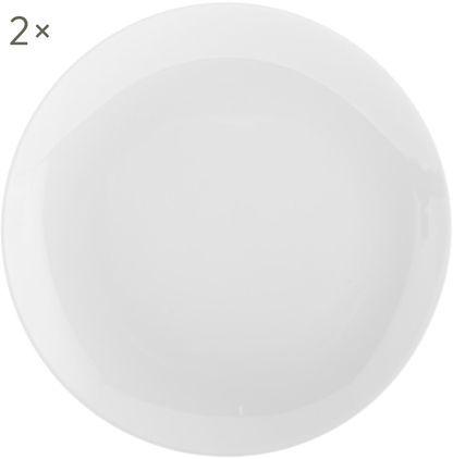 Porzellan-Frühstücksteller Delight Modern in Weiß, 2 Stück