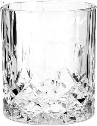 Gläser George mit Kristallrelief, 4 Stück