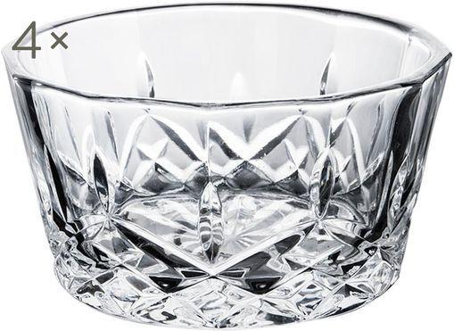 Dipschälchen Harvey mit Kristallrelief, 4 Stück