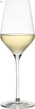 Kristall-Weißweingläser Quatrophil, 6er-Set