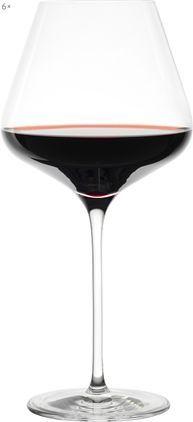 Kristall-Rotweingläser Quatrophil, 6 Stück