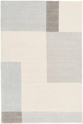 Handgetufteter Wollteppich Keith mit geometrischem Muster