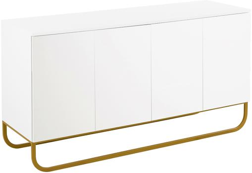 Klassisches Sideboard Sanford mit Türen in Weiß