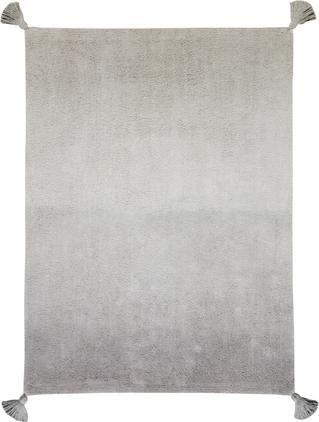Waschbarer Baumwollteppich Degrade mit Quasten