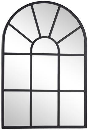 Nástenné zrkadlo s čiernym kovovým rámom Reflix