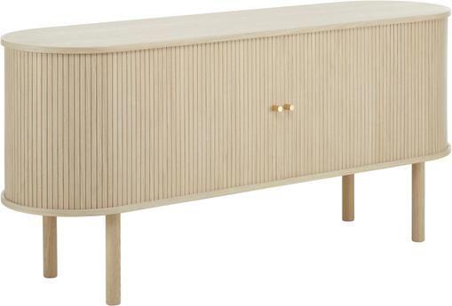 Holz-Sideboard Calary mit Lamellentüren