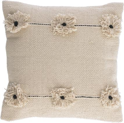 Kissenhülle Belisa mit Struktur-Oberfläche und dekorativen Blumen