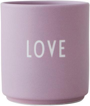 Taza con frase de diseño Favourite LOVE