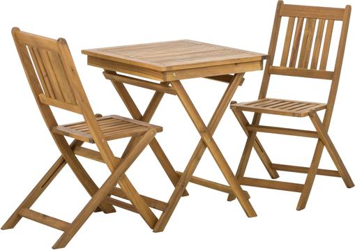 Gartenmöbel Set Skyler aus Akazienholz, 3-tlg.