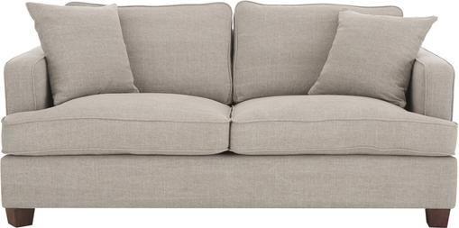 Big Sofa Warren (2-Sitzer) in Sandgrau mit Leinenstoffgemisch