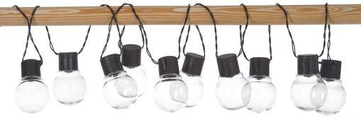Solar Lichterkette Partaj, 380 cm, 10 Lampions