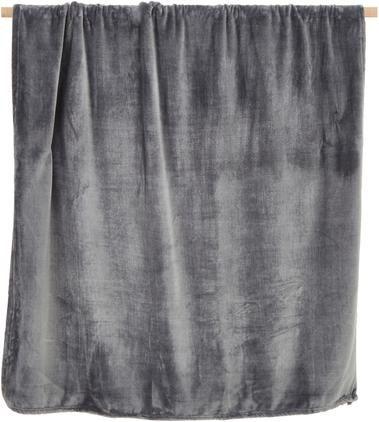 Weiches Fleece-Plaid Doudou in Anthrazit