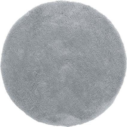 Flauschiger runder Hochflor-Teppich Leighton in Grau
