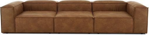 Modulares Sofa Lennon (4-Sitzer) in Braun aus recyceltem Leder