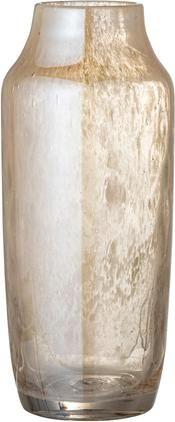 Glazen vaas Anetta in beige