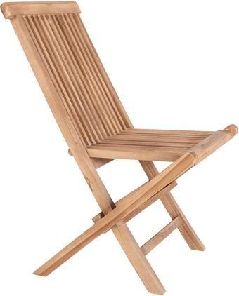 Skladacia záhradná stolička z tíkového dreva Toledo