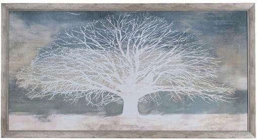 Lámina decorativa sobre papel White Tree