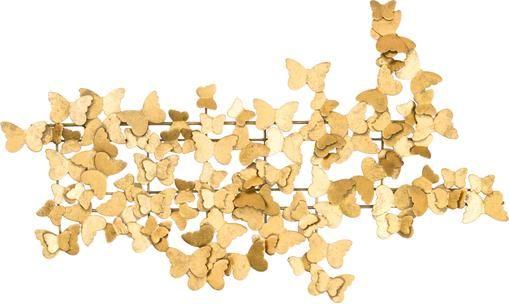 Wandobjekt Butterfly aus Metall in Antik-Optik