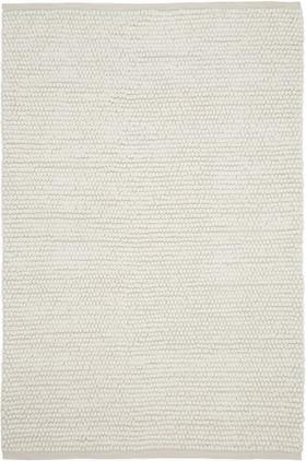 Vlnený koberec Pebble, krémovobiela