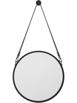 Kulaté nástěnné zrcadlo skoženým popruhem Liz