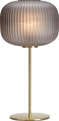 Große Tischlampe Sober mit Glasschirm