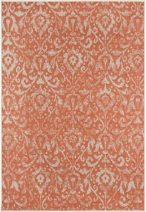 In- & Outdoor-Teppich Hatta im Vintage Look in Orange/Beige