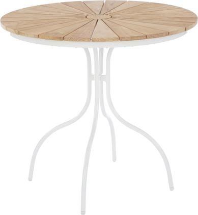 Runder Gartentisch Hard & Ellen mit Teakholzplatte