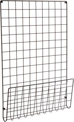 Große Gitter-Pinnwand Mesh in Schwarz