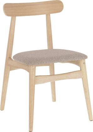 Holzstuhl Nayme mit gepolsteter Sitzfläche
